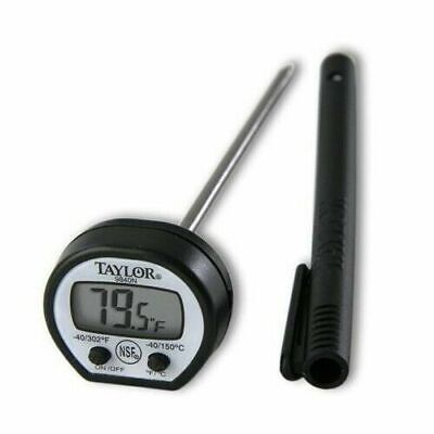 Taylor 9840 Digital Instant Read LCD Pocket (Black Or Red)Thermometer
