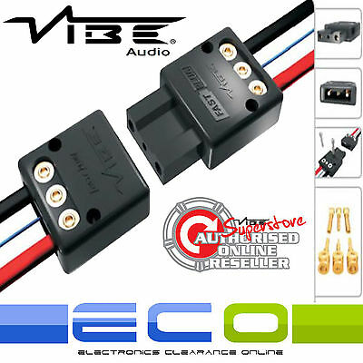 Vibe FAST PLUG Quick Release Plug For Car Active Sub Bass Boxes Enclosures