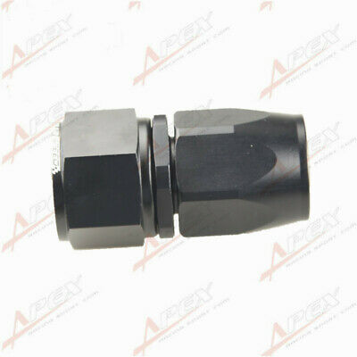 -12An An12 12An Straight Swivel Hose End Fittings Adaptor Aluminum Black