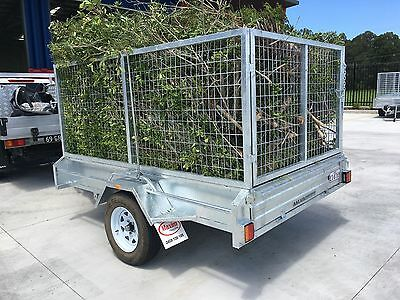8x5 WINCH TIPPER GALVANISED TILTING CAGE BOX TRAILER by Maxim inc  GST/TAX INV