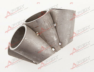 6-1 Turbo Manifold Header Merge Collector 304 Stainless Steel T4 Turbo Inlet