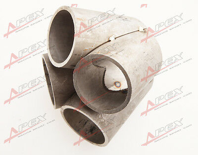 4-1 4 Cylinder Manifold Header Merge Collector Stainless Steel T25 T28 Inlet