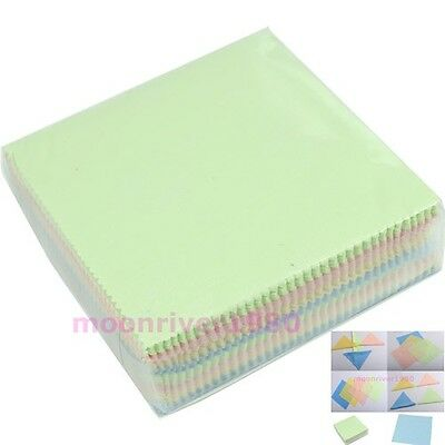 100 X Microfiber Phone Screen Camera Len Glasses Square Cleaner Cleaning Cloth