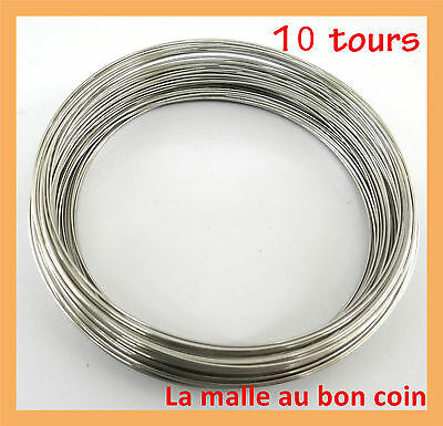 lot de 20 tours fil forme memoire bracelet argent 65x0 6mm cr ation bijoux eur 2 10 picclick fr. Black Bedroom Furniture Sets. Home Design Ideas