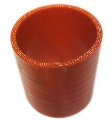 """RED Silicone Hose Coupler 63mm Straight (2.5"""" Inch Silicon) Joiner"""
