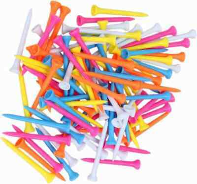 50 x All Plastic 69mm golf tees for driver assorted mixed colors BEEZ tee