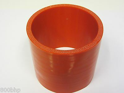 "RED Silicone Hose Coupler 76mm Straight (3"" Inch Silicon Joiner)"