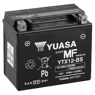 Genuine Yuasa YTX12-BS Motorbike Motorcycle Battery