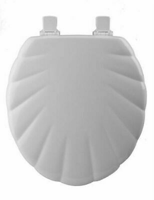 Bemis Mayfair 22EC 000 Round White Molded Wood Toilet Seat w/ Shell Design