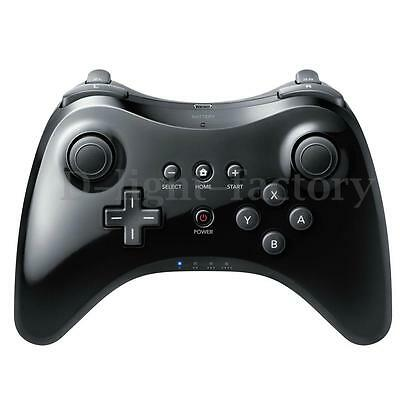 Wireless Classic Pro Controller Gamepad for Nintendo Wii U Black + USB Cable