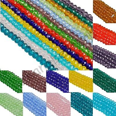 Wholesale Colorful Crystal Glass Spacer Loose Beads Charms 4 6 8 mm Any Colors
