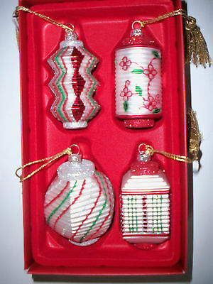 "WATERFORD MARQUIS ""Holiday Lanterns"" set of 4  ORNAMENTS - NIB"