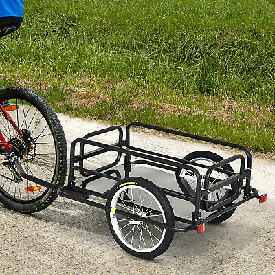 Bicycle Cargo Trailer Utility Bike Cart Carrier Garden Patio Tool New