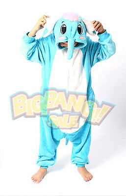 Animal Elephant Onesie Party Cosplay Costume Pajama Kids Children Family Unisex