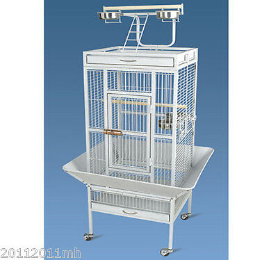 "61.5"" Bird Cage Finches Metal Wire Parrot Decorative House w/ Removable Tray New"