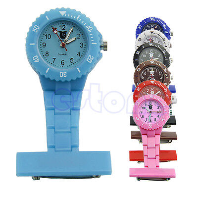 Hanging Pocket Fobwatch Nurse Watch With Pin Fob Brooch Pendant Unisex Style