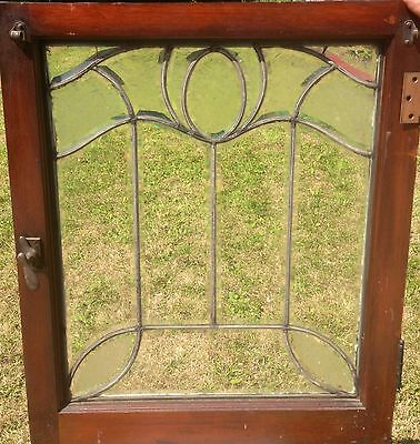 Very Special All Heavy Beveled And Acid Etched Vintage Victorian Window
