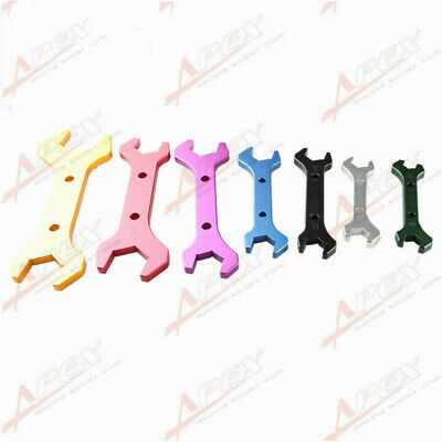 3An To 20An Billet Aluminum Alloy An Wrench Set Double Ended Spanner Colorful