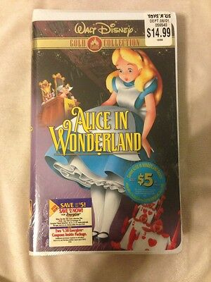 Walt Disney VHS Factory Sealed New Alice in Wonderland ...