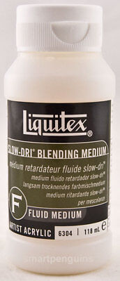 Liquitex Fluid Slow-Dri Blending Medium Extender Acrylic Paint  118 mL 4 oz
