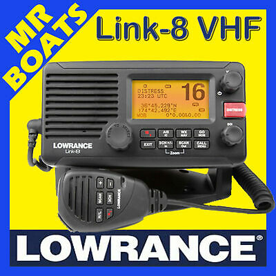 LOWRANCE LINK-8 DSC VHF AIS -WATERPROOF- OZ MODEL Link 8 MARINE RADIO FREE POST