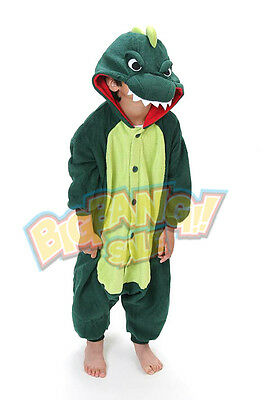 Animal Dinosaur Onesie Party Cosplay Costume Pajama Kids Children Family Unisex