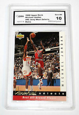 Michael Jordan 92-93 Upper Deck Retro Jerry West GRADED GEM MINT 10 Card BV$$$