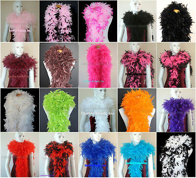 180 Gram Chandelle Feather boas 20+Color/Pattern Costume Wedding Theater Quality