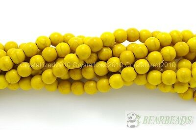 Yellow Howlite Turquoise Gemstone Round Beads 3mm 4mm 6mm 8mm 10mm 12mm 16''