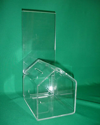 """Strong Acrylic """"dog-House"""" Shaped Donation Brief Box R"""