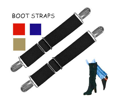 BOOT STRAPS for JEANS & PANTS/LG - NEW - ADJUSTABLE for BETTER FIT - INSIDE BOOT