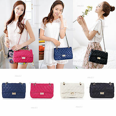 New Genuine Cow Leather Quilted Mini Crossbody Bags Women Shoulder Cute Luxury #