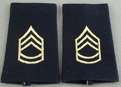 US Army Shoulder Marks - Epaulets - Sergeant First Class - Small Size ( Black )
