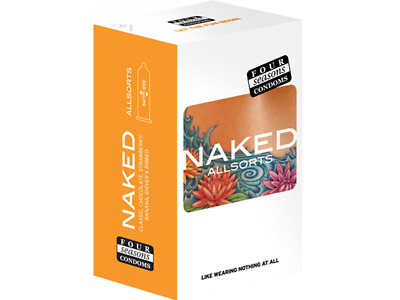 Four Seasons Naked Allsorts Assorted Bulk Condom 144 Condoms