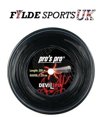 Pro's Pro Devil Spin 1.26mm Tennis String 200m Reel