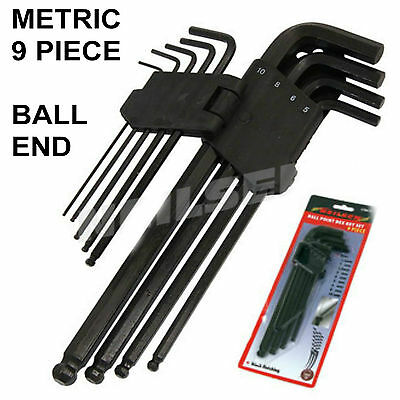 Neilsen Ball Hex Key Set Allen Keys  9 Piece Metric  1.5mm - 10mm 1C