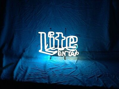 Miller Lite On Tap Vintage Neon Lighted Sign Bar -Rare, Collectible Man Cave