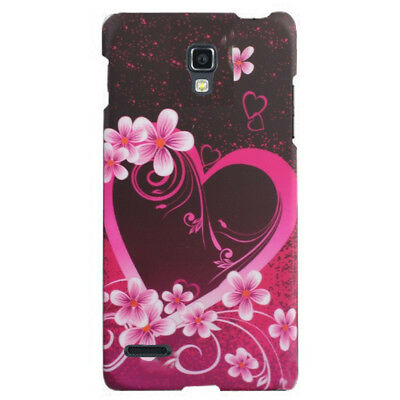 For LG Optimus L9 Rubberized HARD Protector Case Phone Cover Purple Love