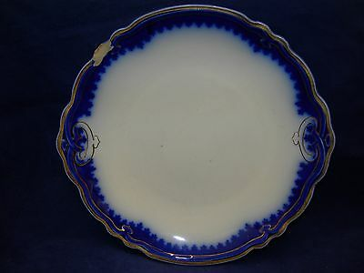 WH Grindley THE MARQUIS Flow Blue  Cake Plate  England  Free Shipping