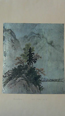 Antique19C Japanese Ink&watercolor Painting On Paper,artist Sign And Red Seal