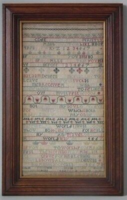 1740 Verse Sampler by Margaret Downing