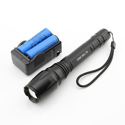 Ultrafire 1600 Lumen 5 mode CREE XM-L T6 LED Flashlight + Battery + Charger