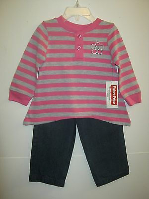 NEW W//T FISHER-PRICE GIRLS  FRIENDS FOREVER PANTS OUTFIT 12M 18M 3T 4T 2T