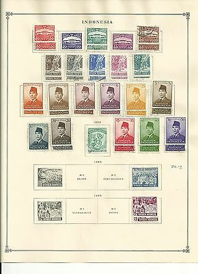 Indonesia 1950 to 1972 Collection on Scott International Pages, SCV $278