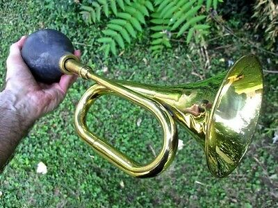SMALL BRASS BULB HORN w/Free Mouthpiece (limited time offer!)