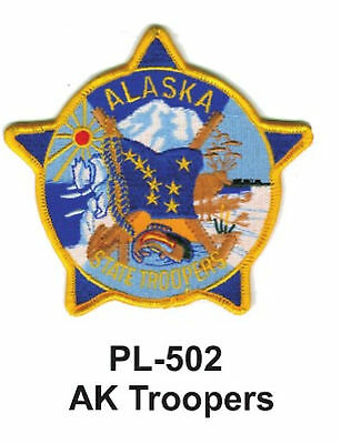 """AK TROOPERS STATE POLICE EMBROIDERED PATCHES 3"""""""