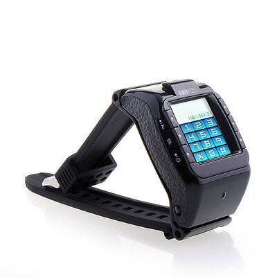 Black Wrist Watch Phone Unlocked Touch Screen Bluetooth Camera Tri-Band GSM