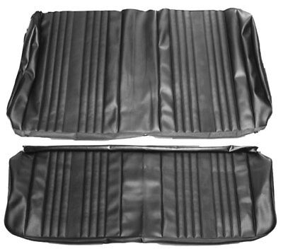 1969 69 Chevelle New Black Rear Seat Covers Pui Convertible