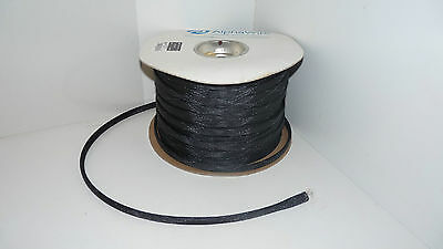 10 ft AlphaWire GRP-120-NF12 Black Fire Retardant 1/2 Fuel Electrical Sleeving