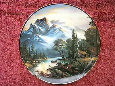 """Franklin  Mint  """"mountain Retreat""""  Limited Edition Collector's  Plate"""